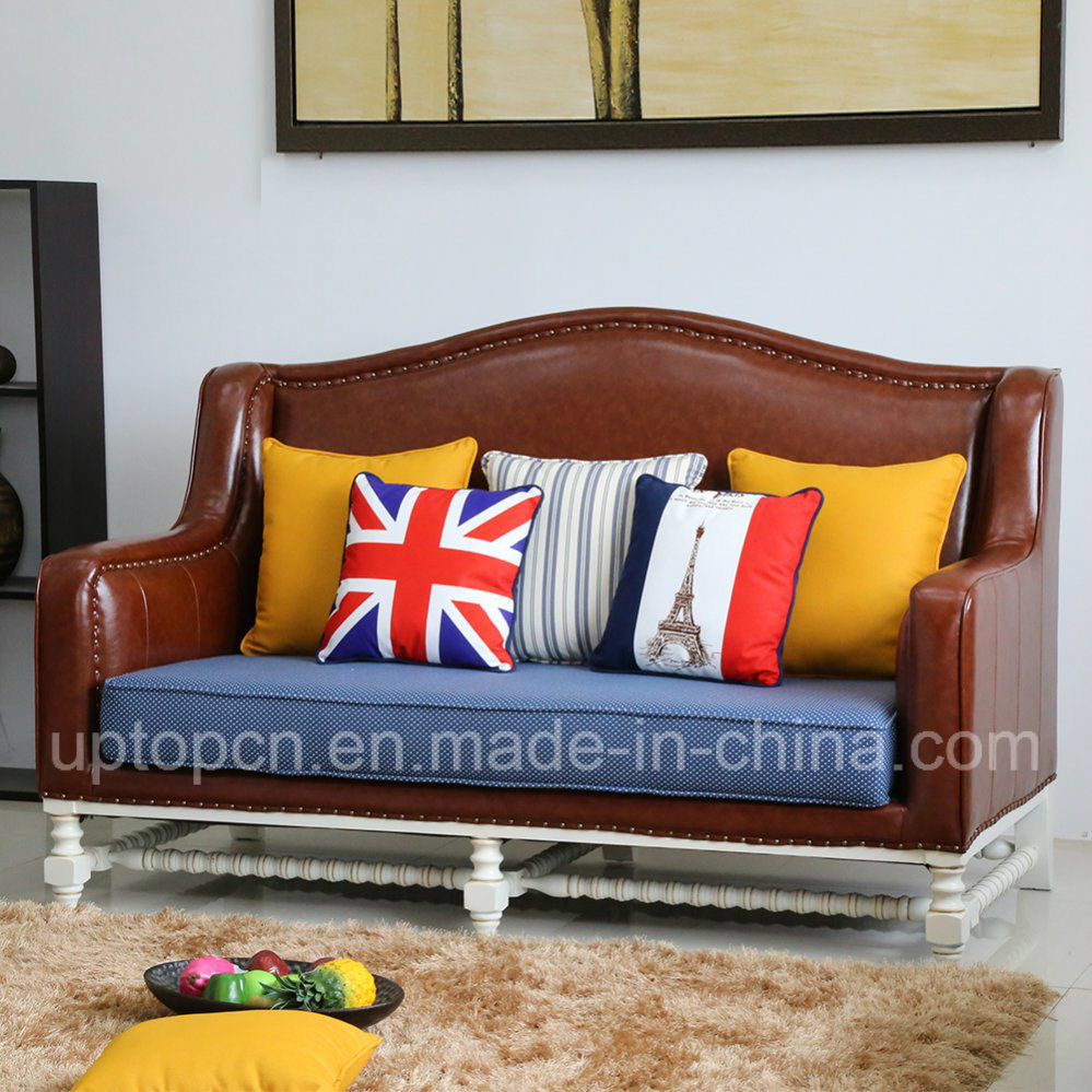 China Upscale Living Room Sofa Set With Fabric And Pu Leather Upholstery Sp Ks363 Hotel Leisure