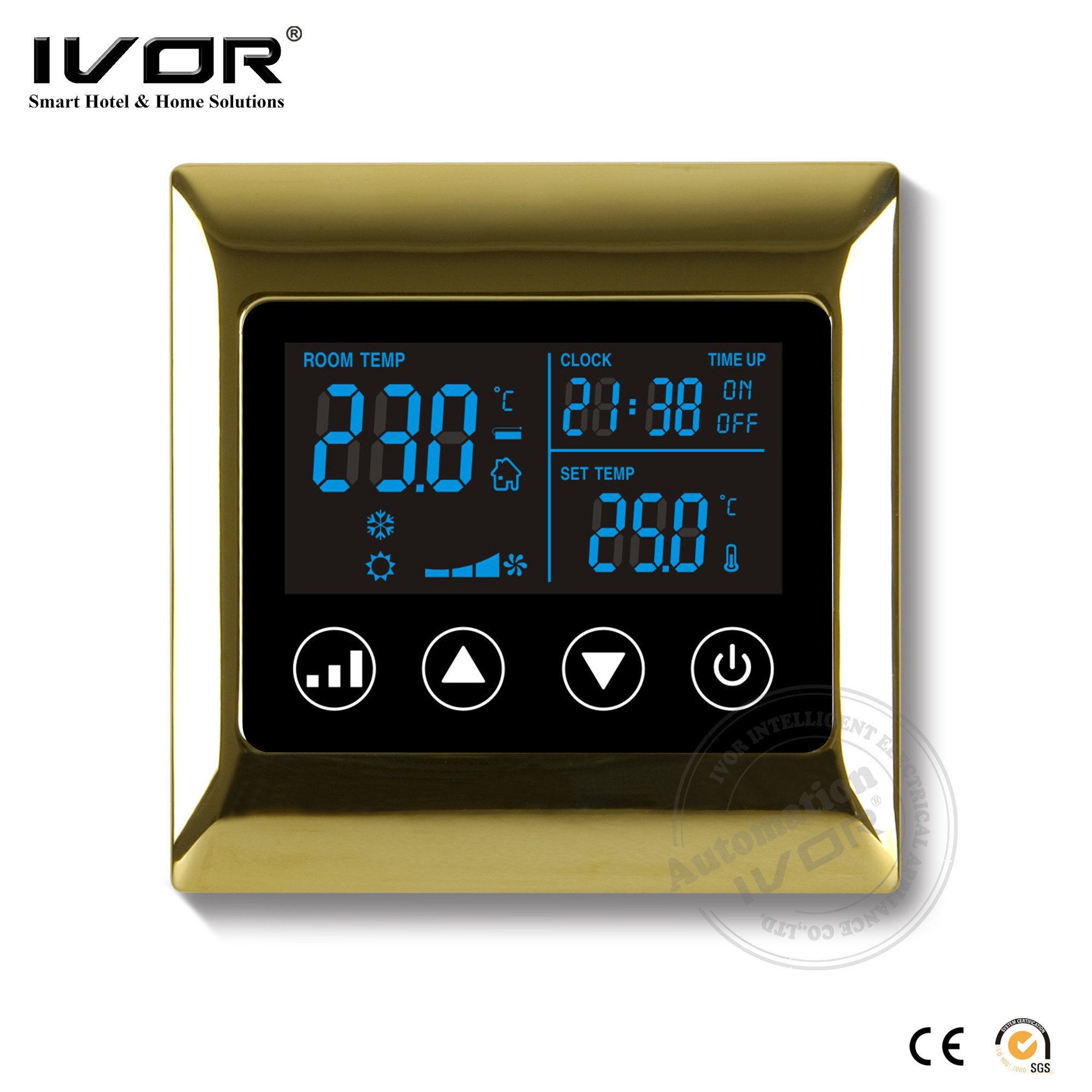China Ivor Touch Screen Air Conditioner Thermostat Temperature Controller