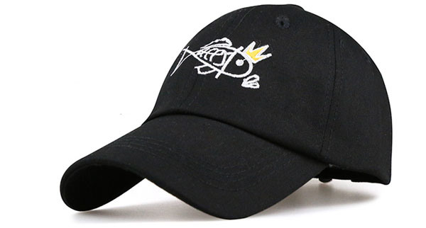 SGS Fish Logo Cotton Embroidery 6 Panels Baseall Caps