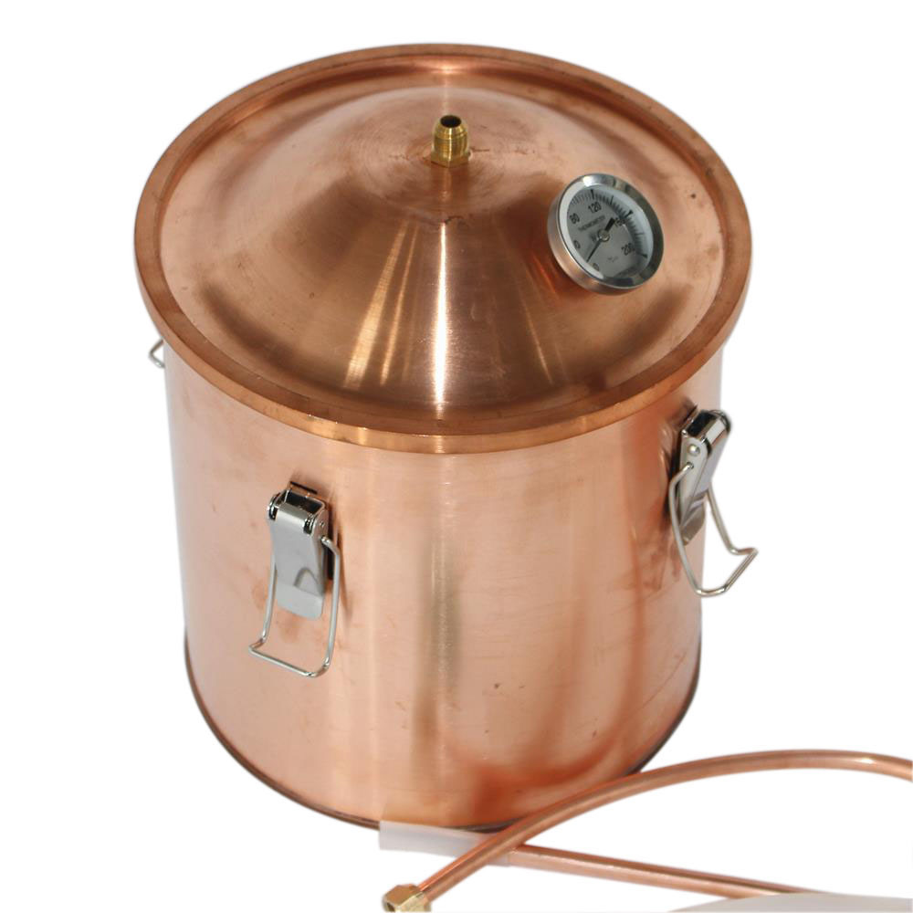 18L 5gallon Multifunction Copper Alcohol Distiller Rum Red Wine Whiskey Brandy Home Making Distillation Kit