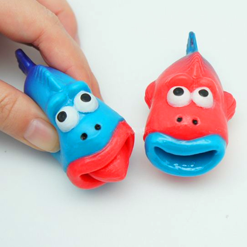 China Anti Stress Squeeze Rubber Fish Toy with Popping Tongue ...