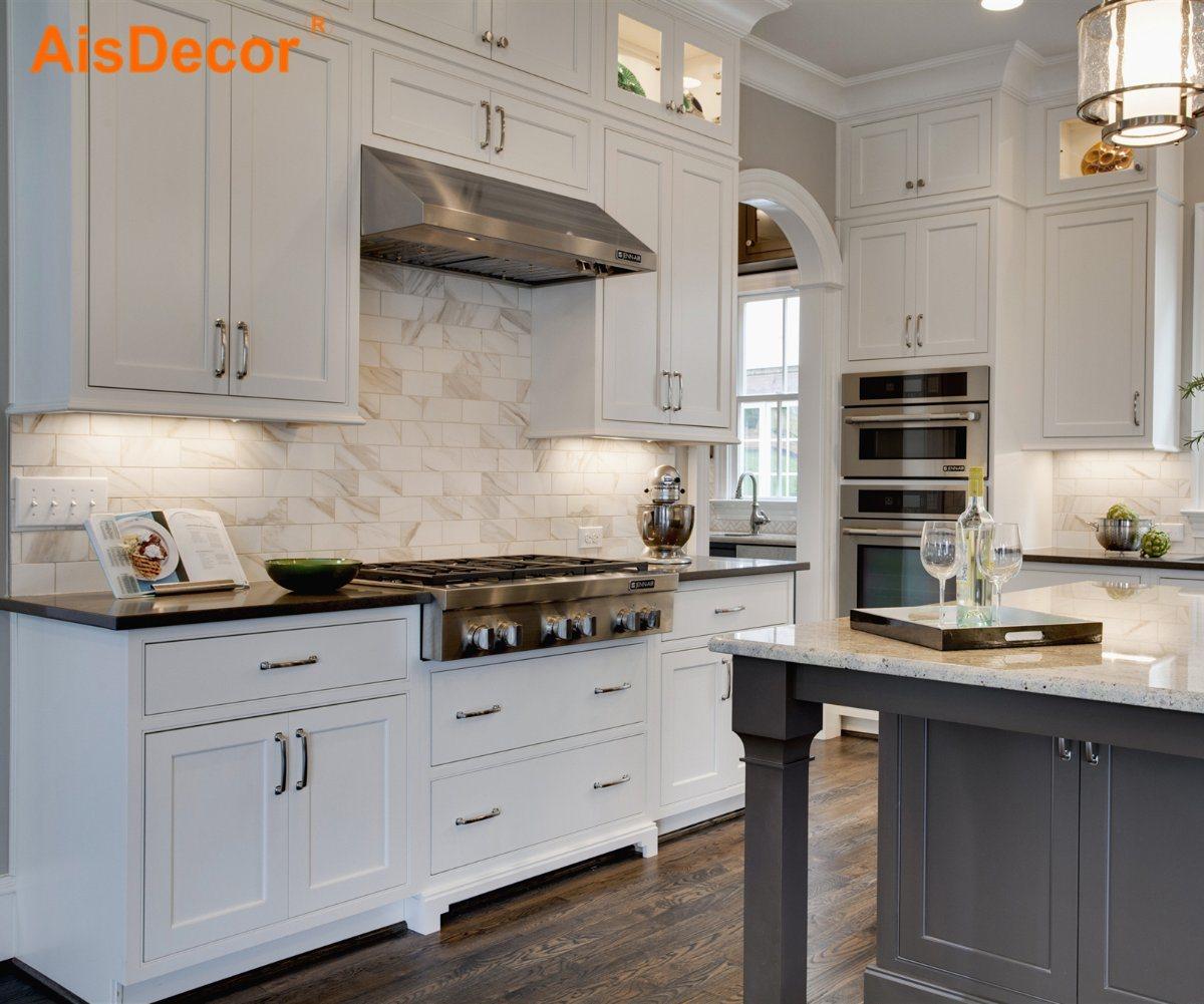 China 2020 Warm Shaker Hampton Style Metal Handle Kitchen Cabinet With Free Cad Design China Kitchen Cabinets Kitchen Cabinet