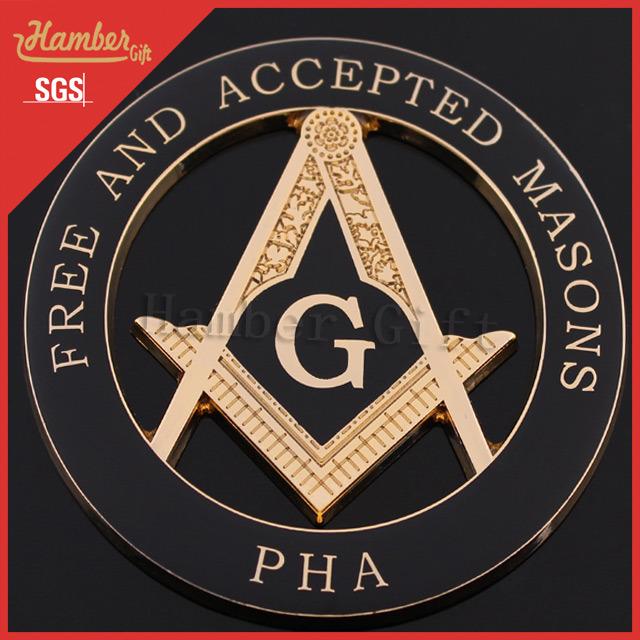 China Pha Masonic Car Emblems Symbols - China Masonic Car