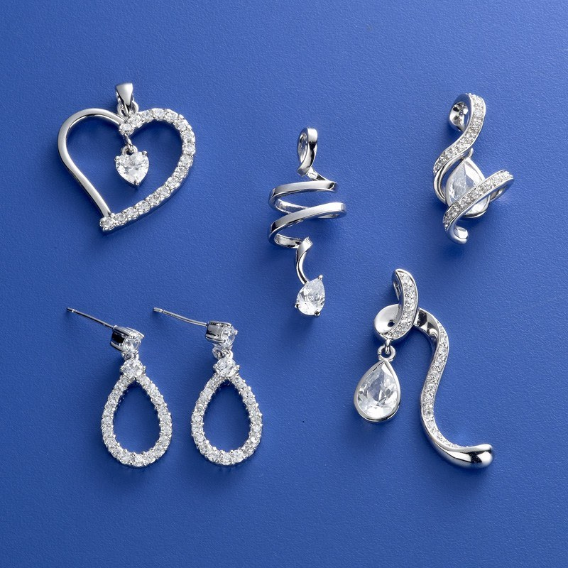 Fashion Jewelry CZ Earrings Pendants