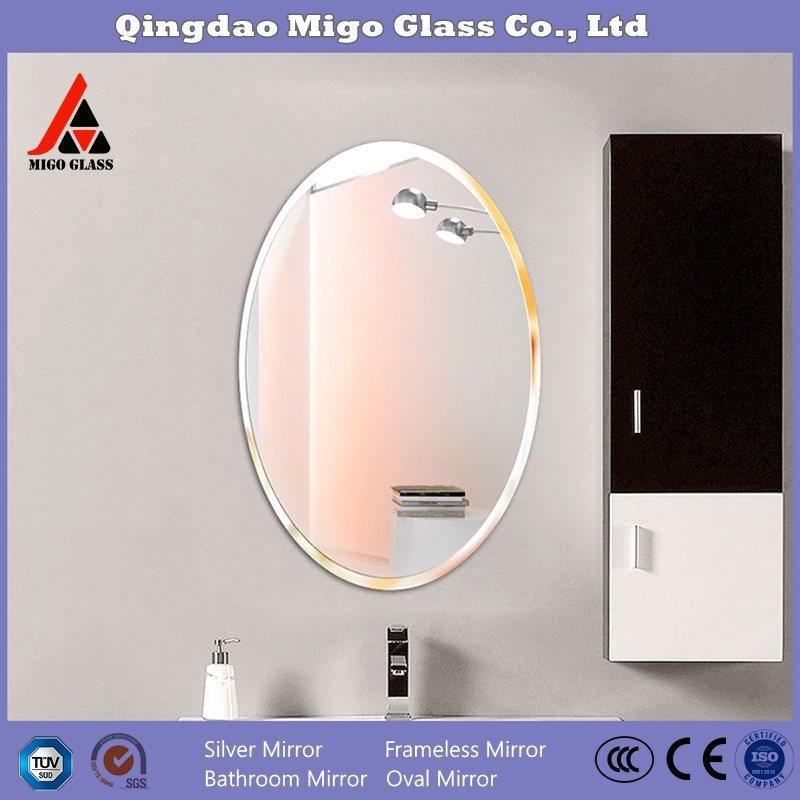 China Frameless Oval Bathroom Mirror, Vanity Mirror Frameless Oval