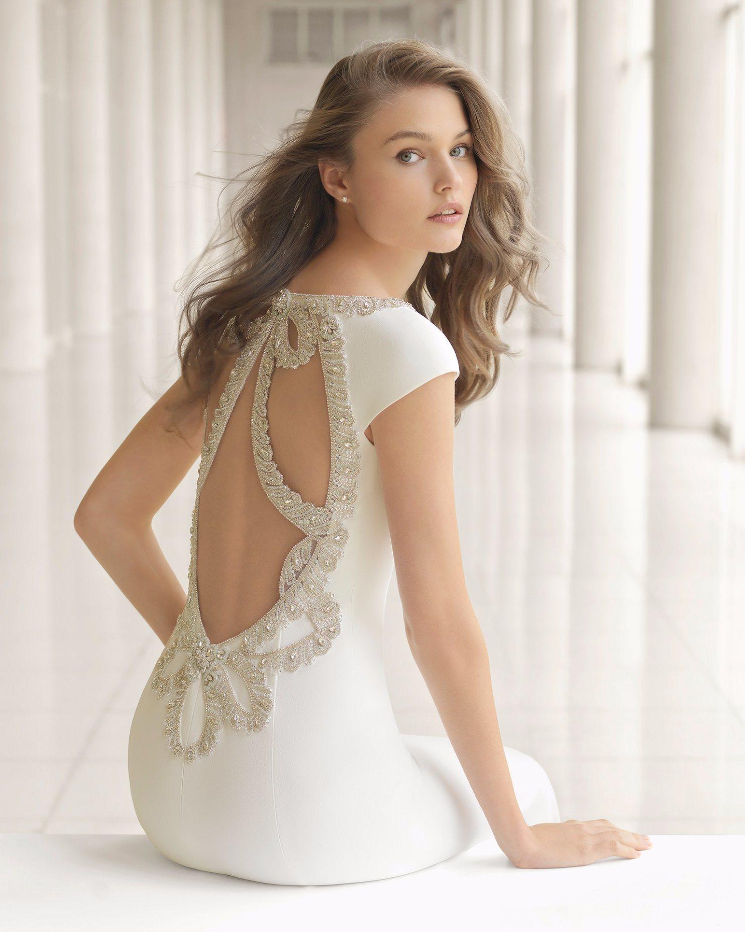 19d2e72291a6 China Deep V Neck Beads Neckline Hollow Back Mermaid Wedding Dress ...