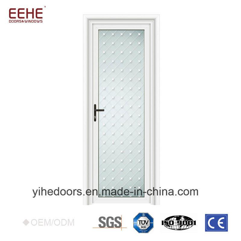 China Frosted Glass Toilet Door Design Aluminium Bathroom Door