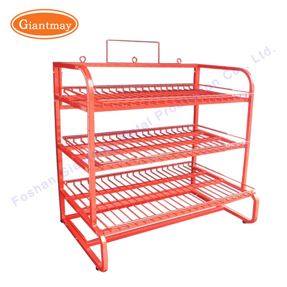 China Retail Metal Wire Display Shelving Units Metal Basket Storage