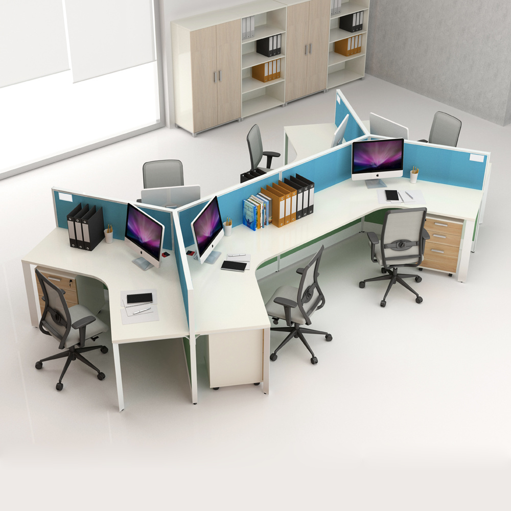 Modern Office Desk 2 Person Workstation