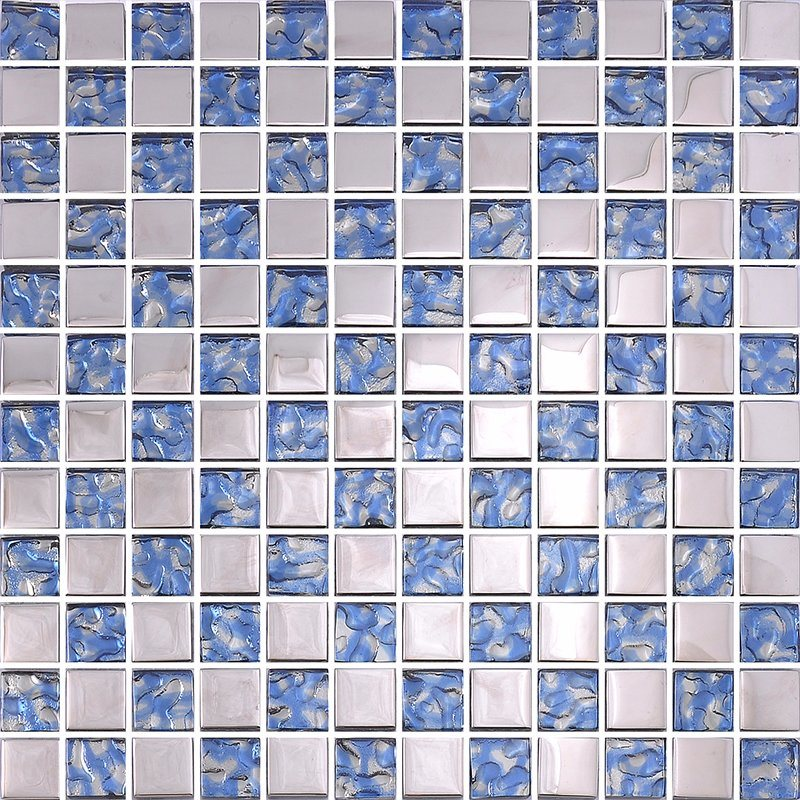 China Blue Ceramic Mosaic Bathroom Pool Wall Floor Tiles