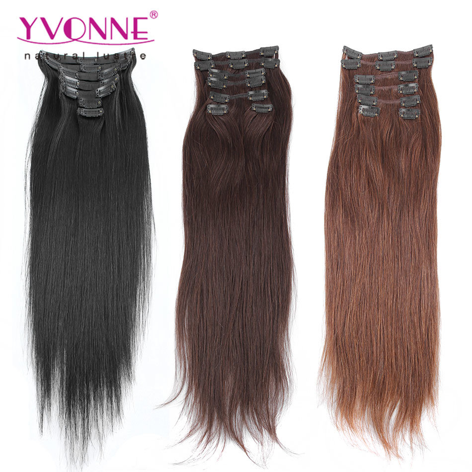 China African American Clip In Human Hair Extensions Photos