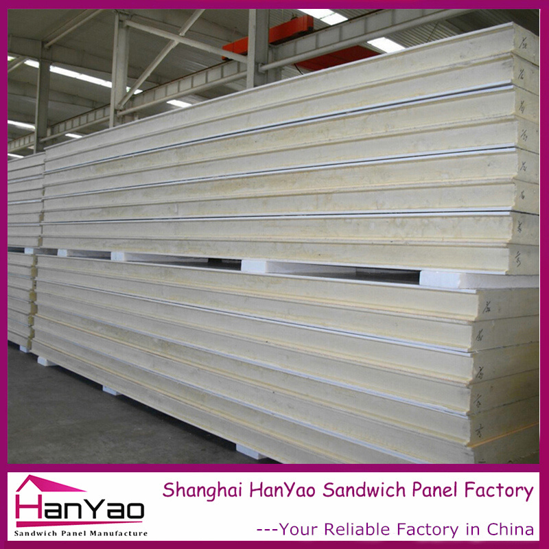75mm Color Steel Polyurethane PU Sandwich Panel for Wall and Roof