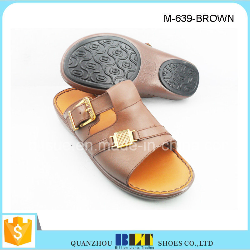 Hot Sale Men Fashion PU Upper Arabia Slippers pictures & photos