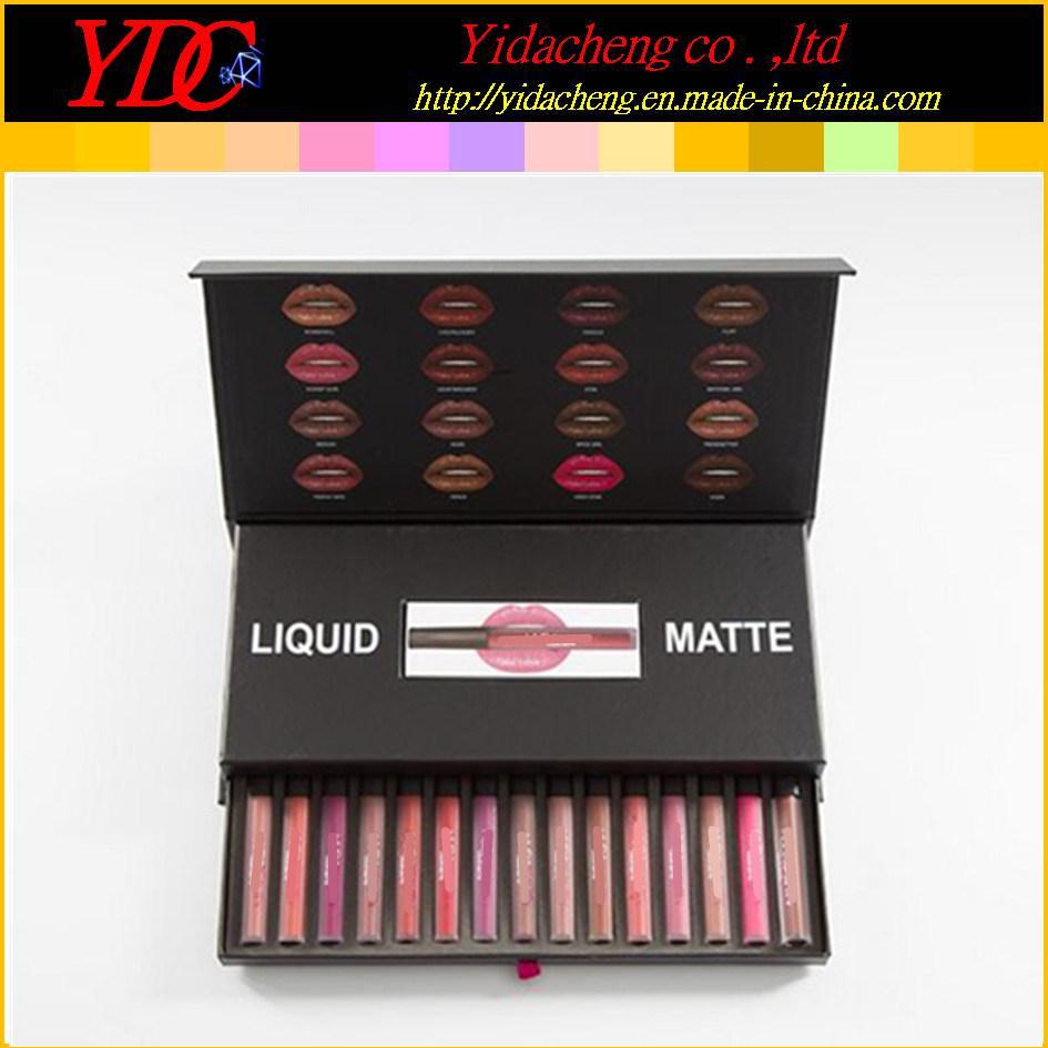 China 16 Pieces Hd Beauty Liquid Matte Lipstick Makeup Lip Gloss Set China Beauty Lipstick Kit And Huda Beauty Lip Gloss Price