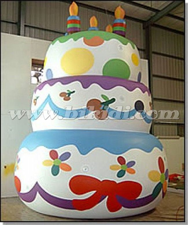 Groovy China Giant Inflatable Floating Birthday Cake Balloon Inflatable Personalised Birthday Cards Veneteletsinfo
