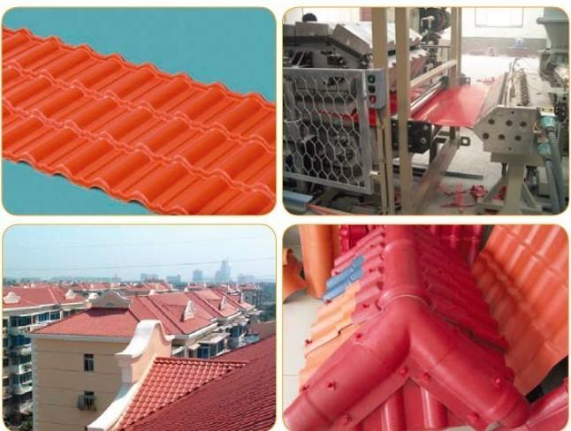 PVC Roofing Titles Extrusion Line / PVC Banboo Sheets Extrusion Machinery / Glazed Title Pruduction Line pictures & photos