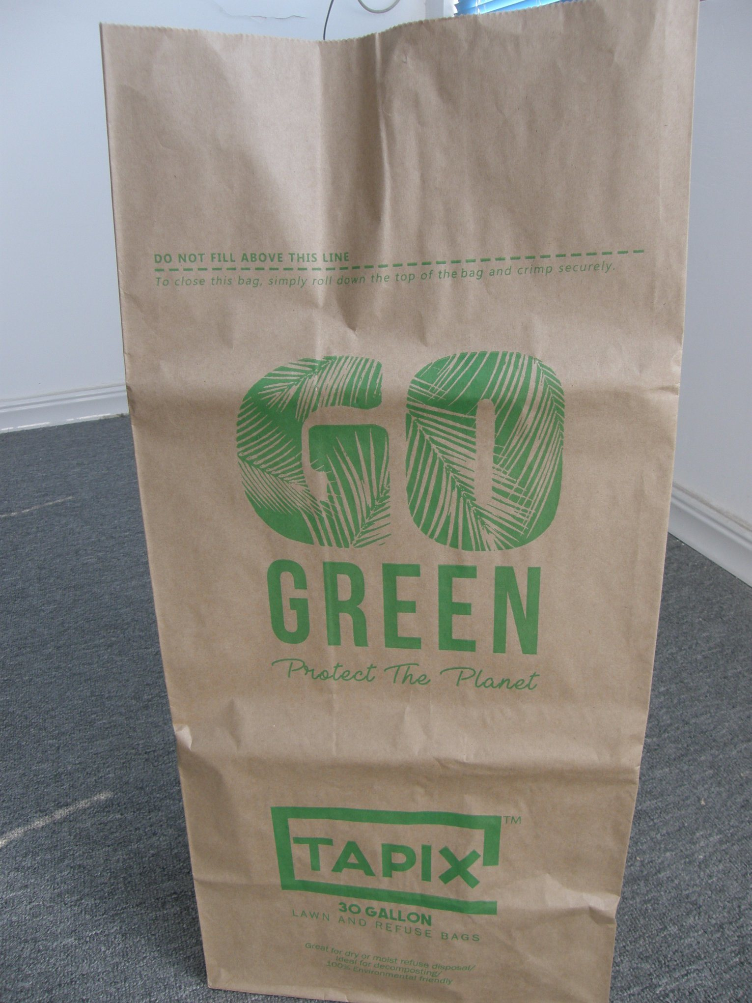 cf378114f70 Big Paper Bag for Trash or Leaf Trash Outdoor Kraft Paper Bag Leaf and Lawn  Refuse Trash Paper Bags