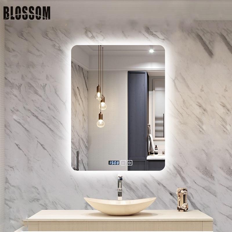 Wholesale Bathroom Wall Mounted Backlit Illuminated Led Lighted Frameless Mirrors China Frameless Mirrors Wall Mounted Mirror Made In China Com