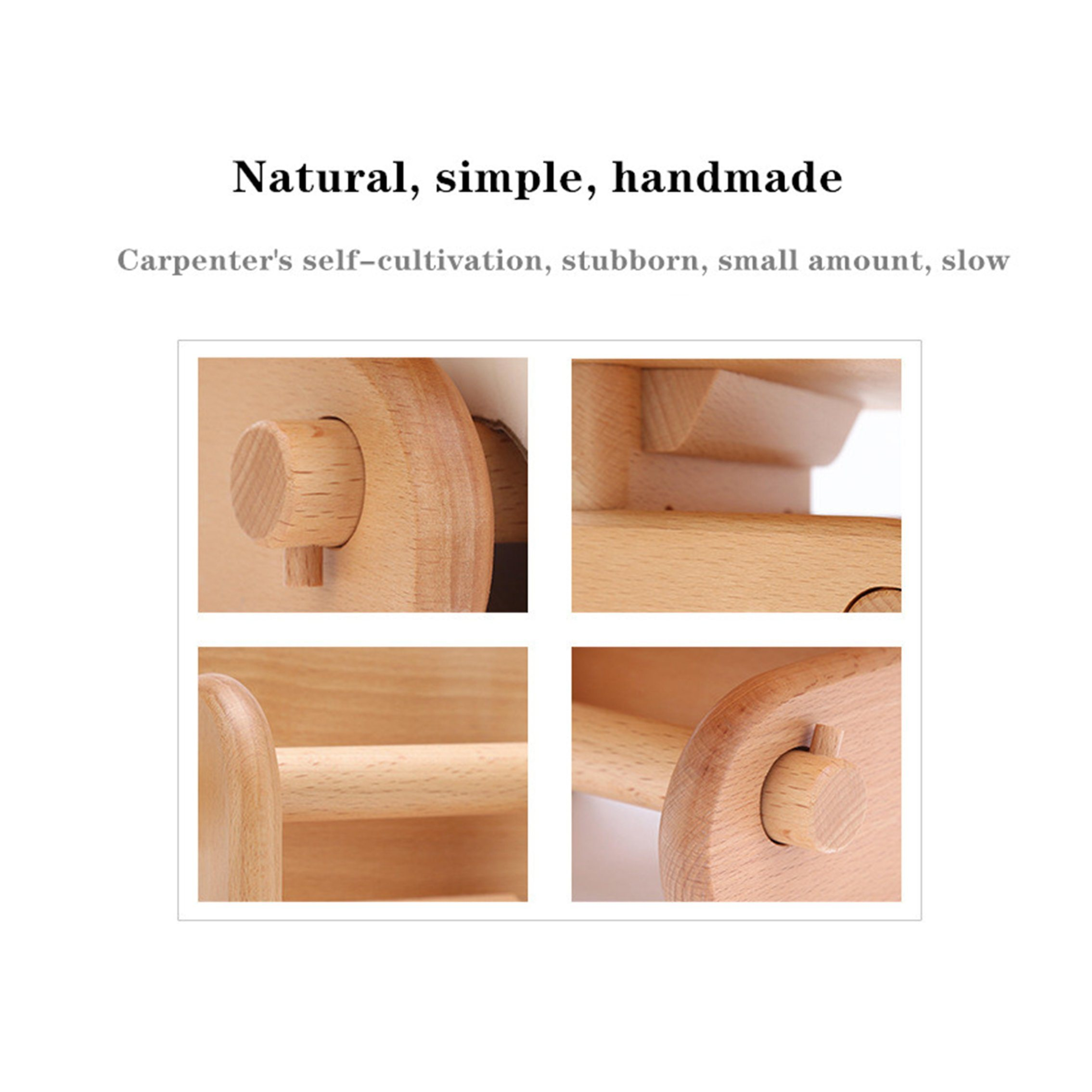 China Wooden Creative Paper Towel Rack Toilet Toilet Paper Holder Kitchen Wall Mounted Storage Wooden Roll Holder Amaw 0035 China Wooden Creative