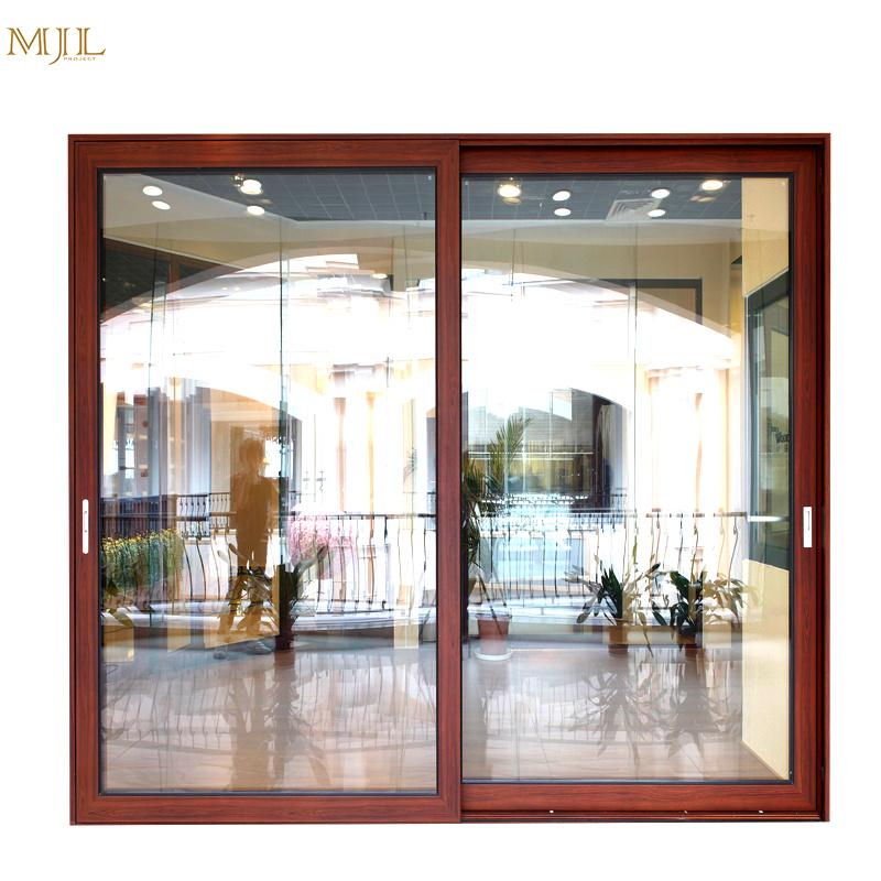 China Customized Aluminum Clad Wood Sliding Glass Door For