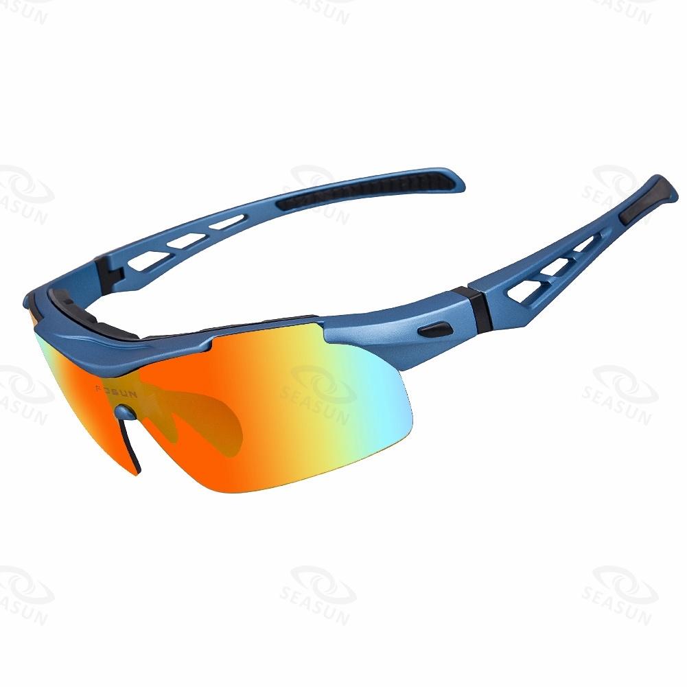 Polarized Cycling Sunglasses Outdoor Sports Eyewear Interchangeable 4 PC Lens