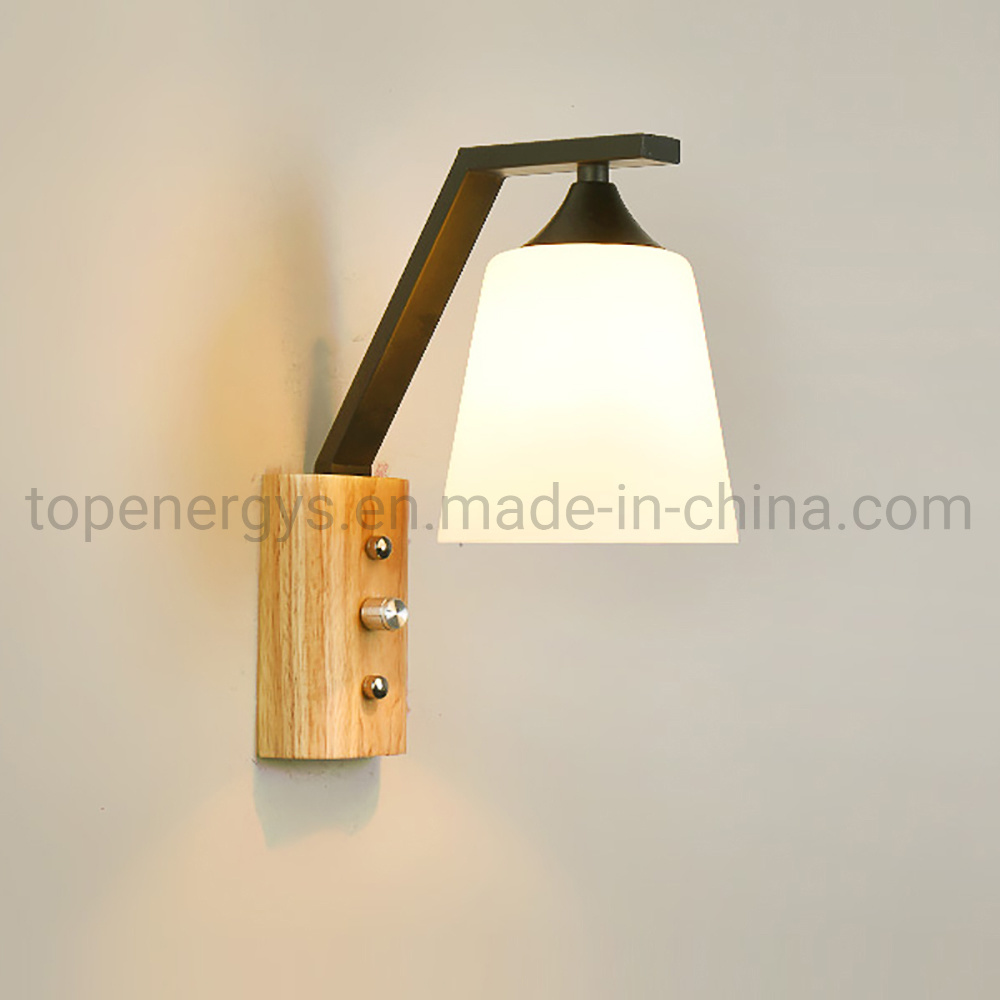 Solid Wood Switch Wall Lamp Gl