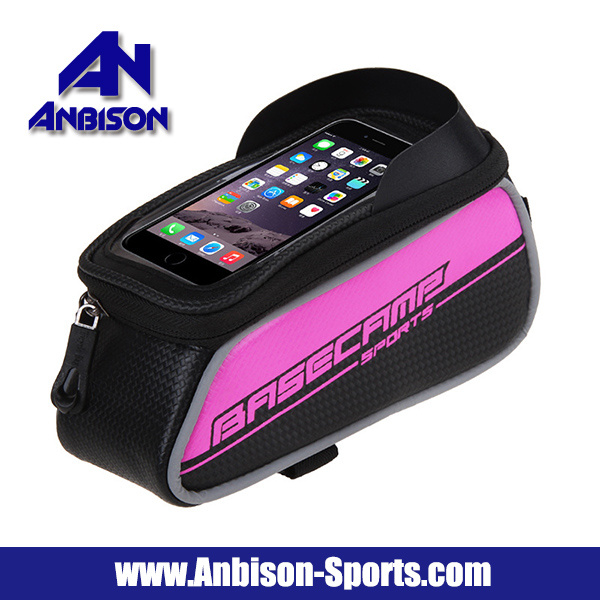 Outdoor MTB Bicycle Beam Bag with 6.0 Inch Phone Touch Screen Pouch Bag