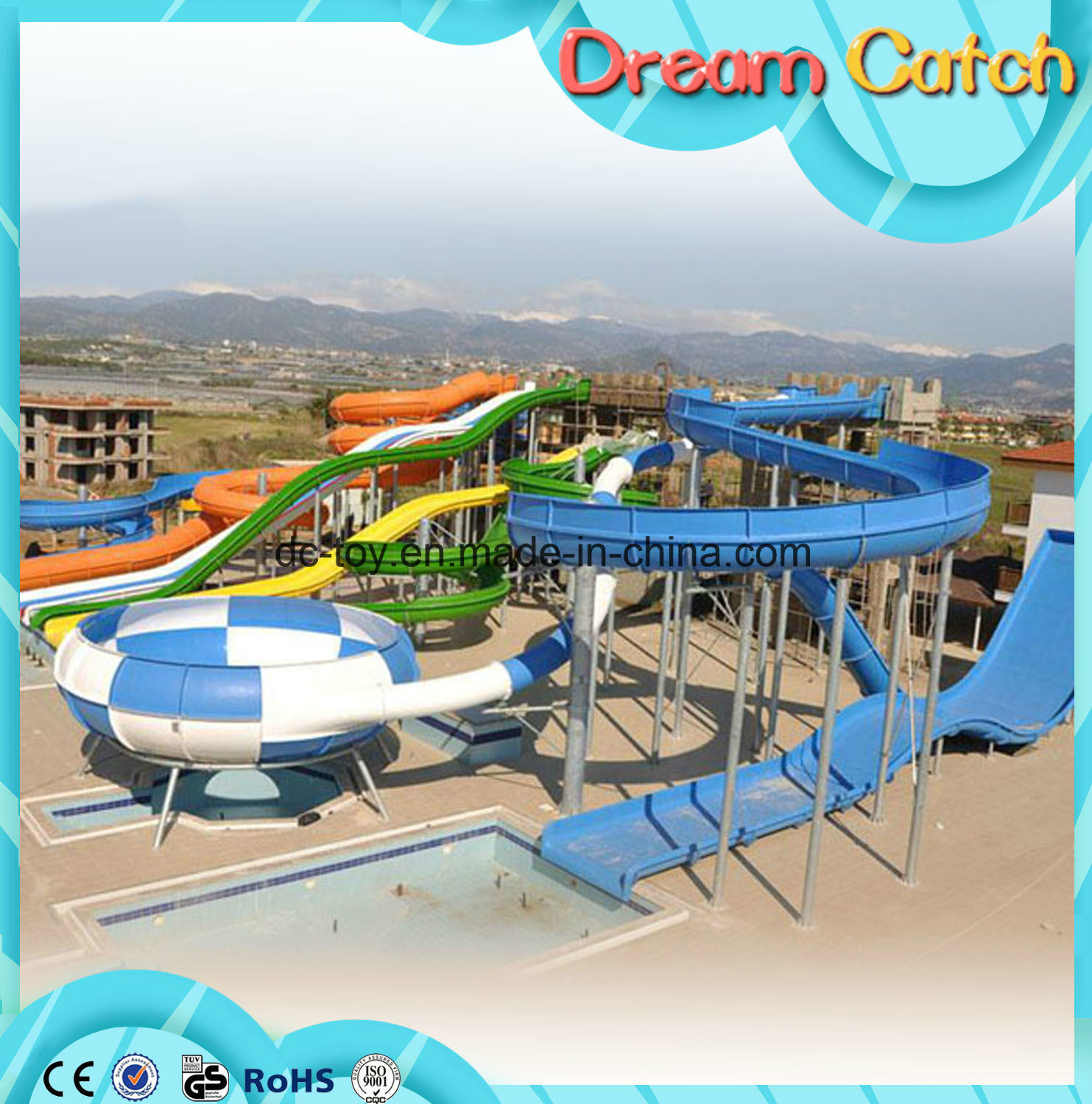 Outdoor Playground Water Park Slides for Sale pictures & photos
