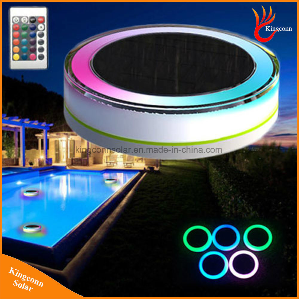 Hot Item Ip68 Colorful Led Solar Floating Pool Light With Remote Control