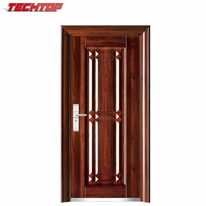 Elegant China TPS 032 New Model Safety Stainless Entrance Iron Gate Steel Main  Double Door Design   China Door, Steel Door