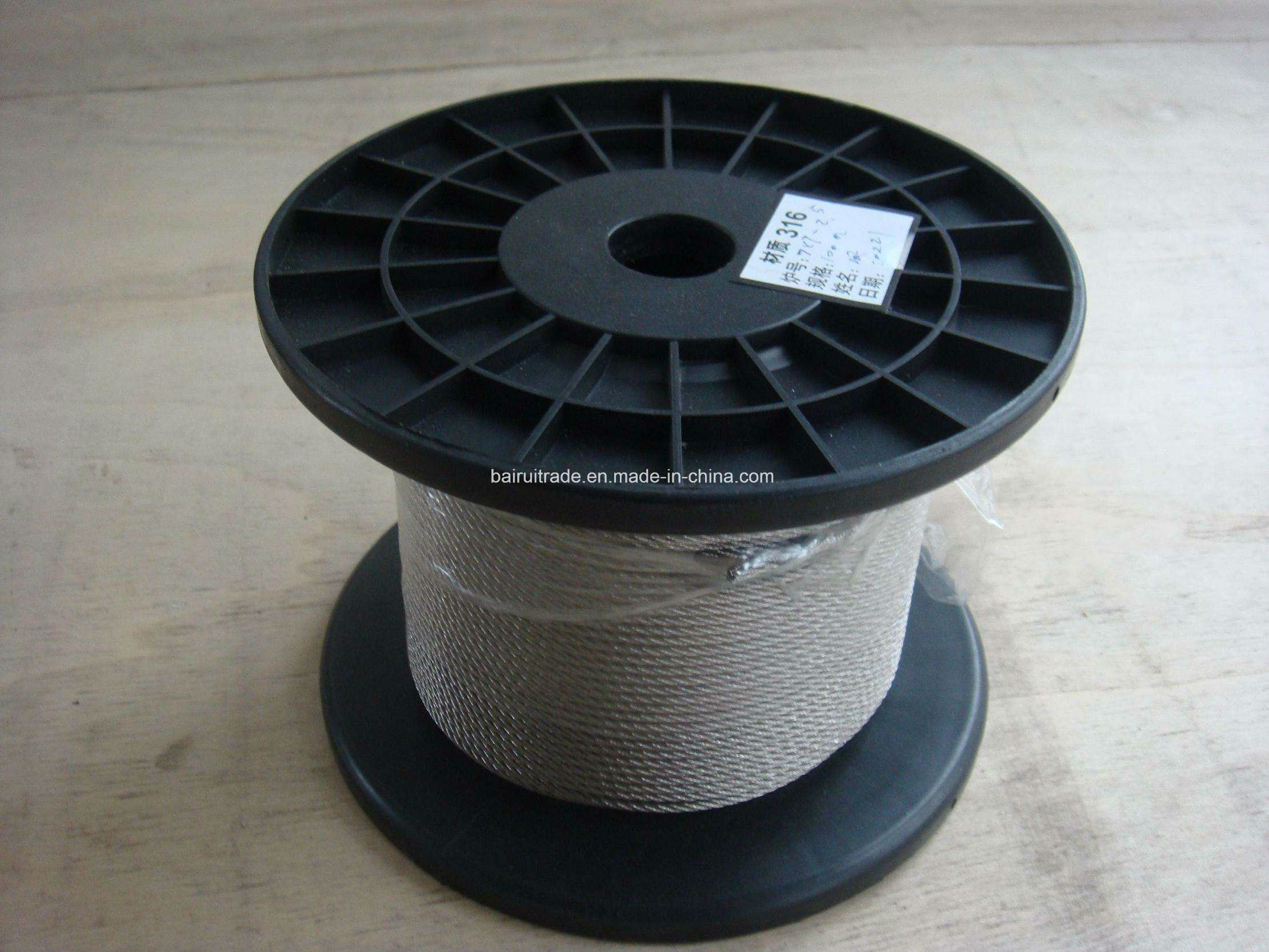 China Galvanized Steel Wire Rope Wire Cable for Export Photos ...