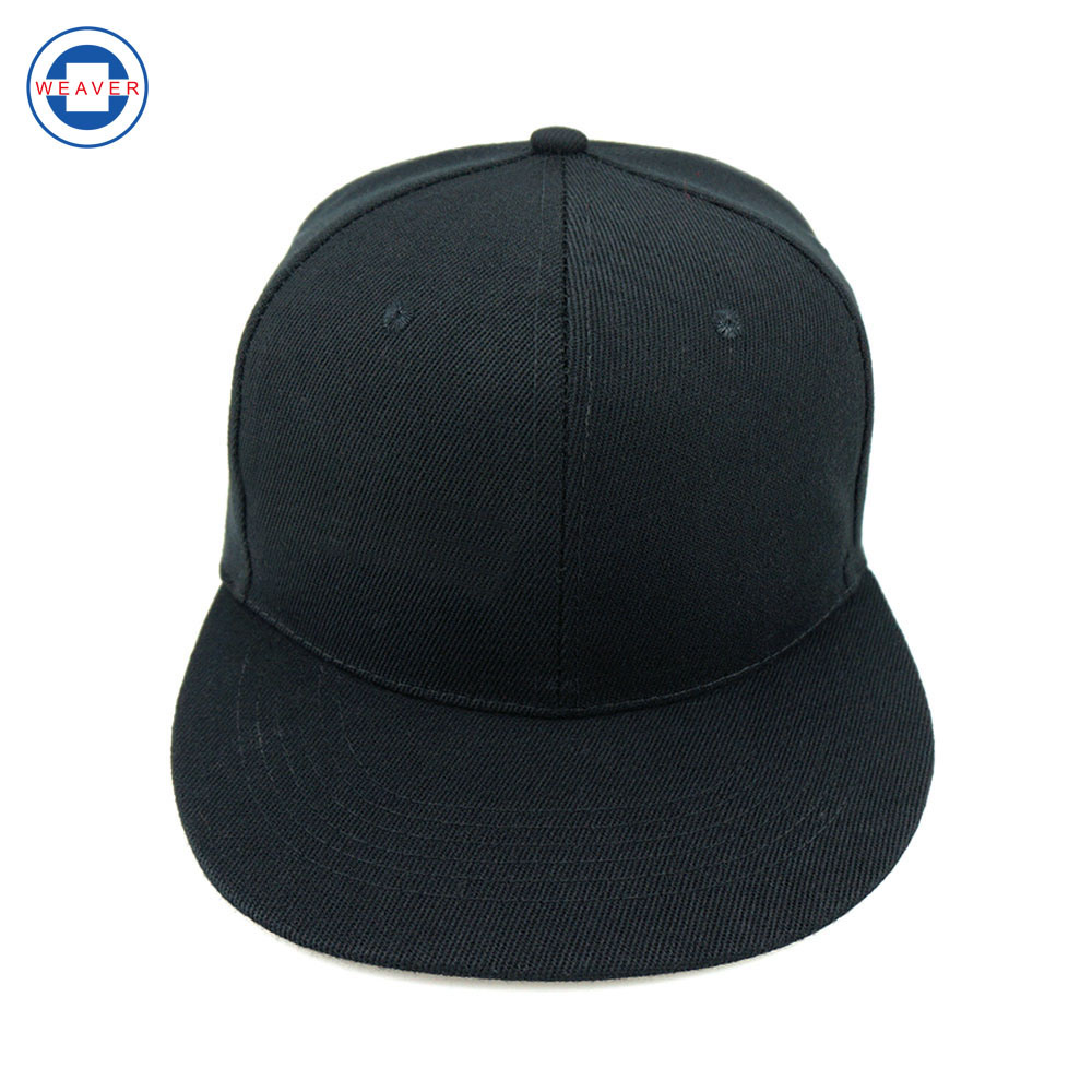 1dfe4bd0 [Hot Item] Wholesale Cheap Plain Black 6 Panel Blank Snapback Hat