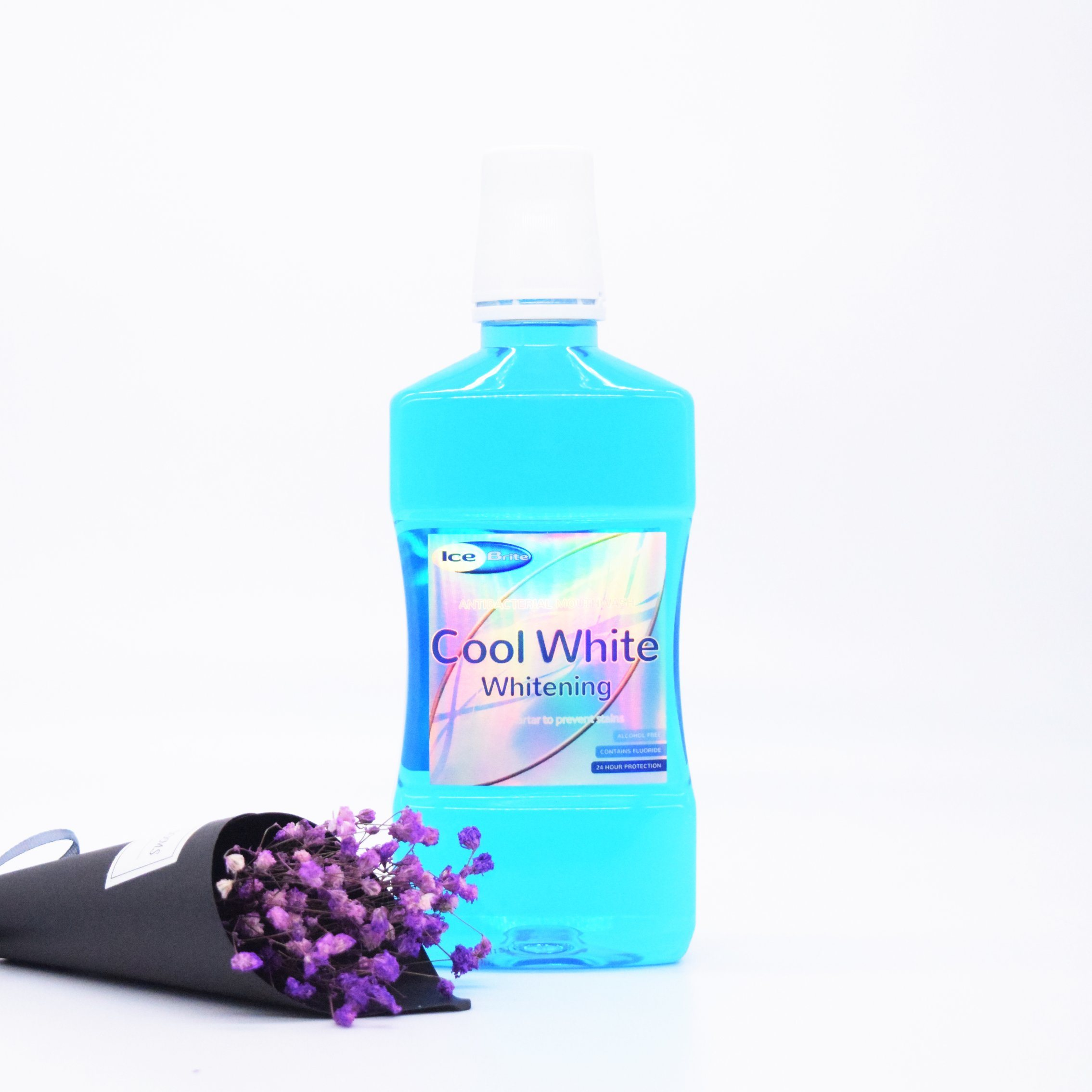 [Hot Item] OEM ODM Private Label Cool White Mouthwash Mint Mouth Wash for  Personal Care