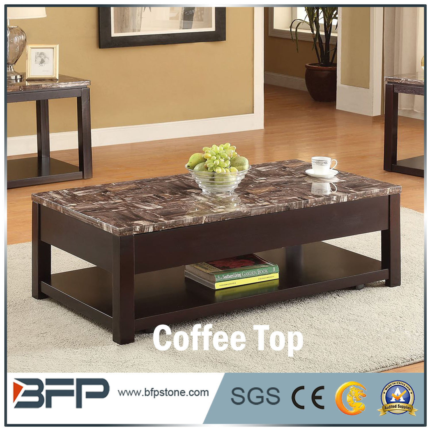 China Home Furniture Coffee Table Side Table Marble Top China