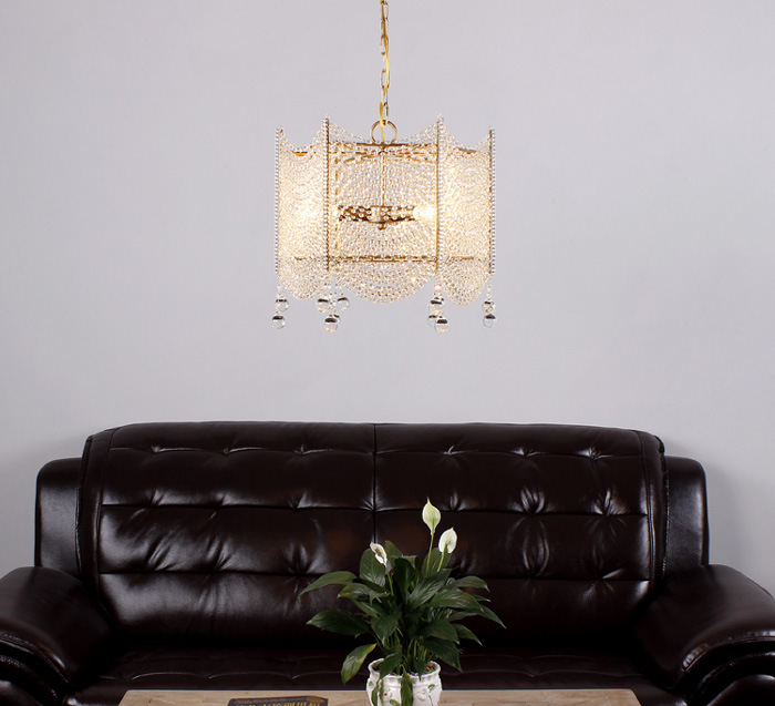 China Square Clear Crystal Chandelier Lighting French ...