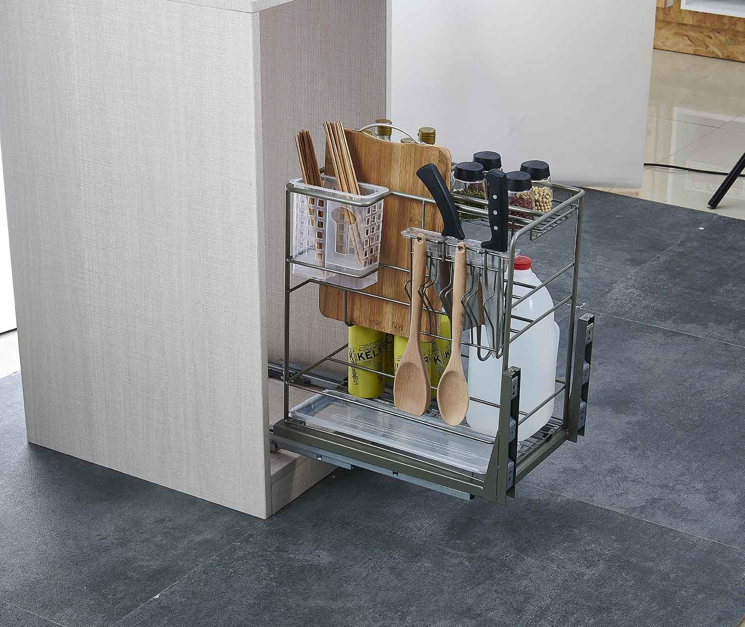 China Aluminium Pull out Kitchen Drawer Basket (DL200 ...