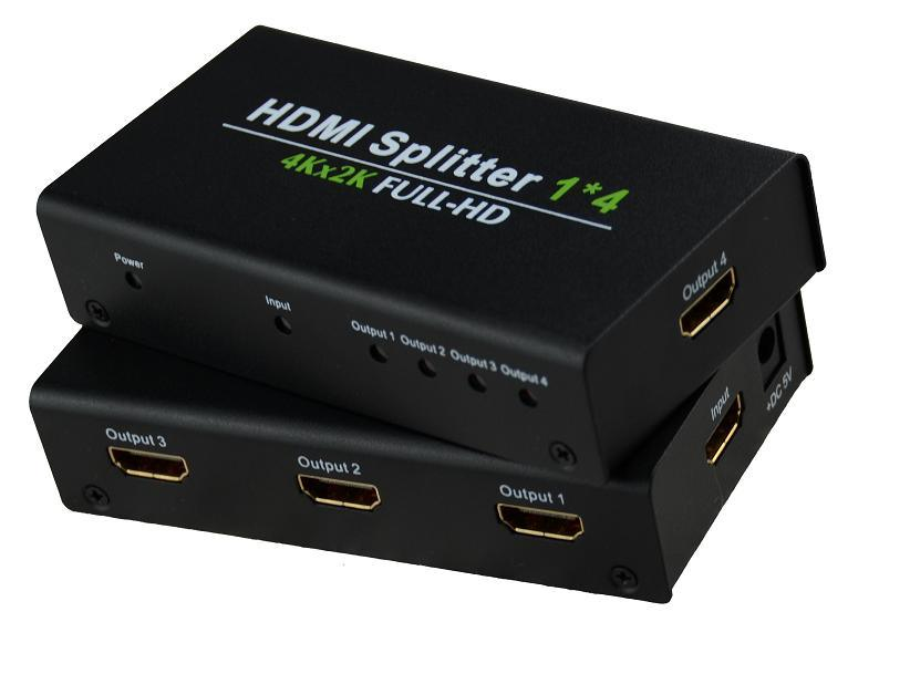 [Hot Item] Ultra HD 4k HDMI Splitter 1X4 1080P, 1 in 4 out HDMI 1 4  Splitter 4 Port HDMI Splitter 1 Input 4 Output Switcher