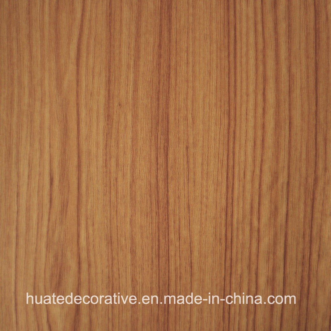 China Wood Grain Decorative Melamine Paper For Plywood Mdf Laminate Board Teak Printing