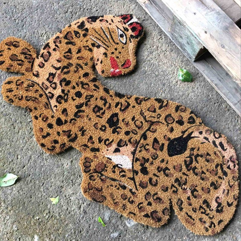 Animal Shape Shaped Leopard Tiger Lion Pig Cow Elephant Dog Cat Pet Fish Flower Erfly Coco Coir Fiber Coconut Welcome Entrance Floor Doormats Door Mats