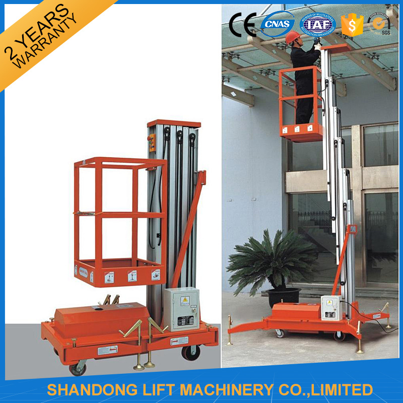 Electric Telescopic Vertical Hydraulic Man Lift Equipment Light Duty pictures & photos