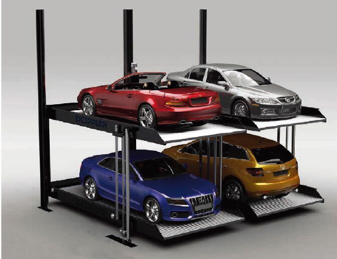 Two Level 2 Post Parking Lift/ Double Stack Parking System/ Hydraulic Car Park Lift