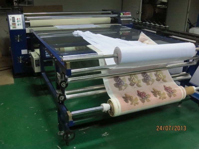 China Fabric Printing Machine Roller Type Heat Transfer
