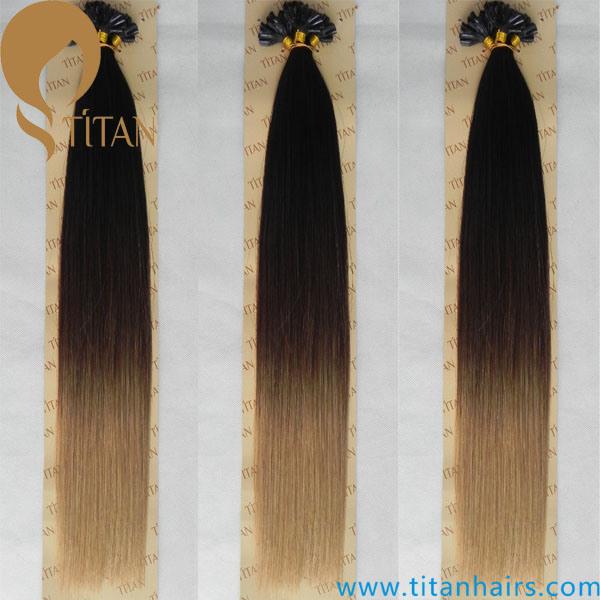 China Three Tone Ombre Color Human Hair U Tip Hair Extension China