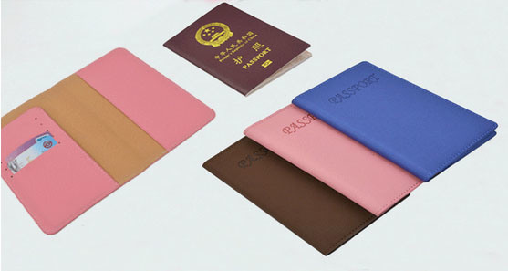 PVC Vinyl PU Grain Leather Passport Holder pictures & photos