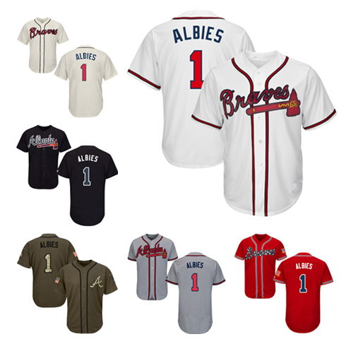 timeless design 03422 e4713 China Men Women Youth Braves Jerseys 1 Ozzie Albies Baseball ...