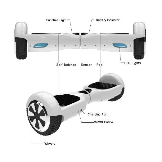Excellent Quality Mini Smart Self Balancing Scooter 6.5 Inch