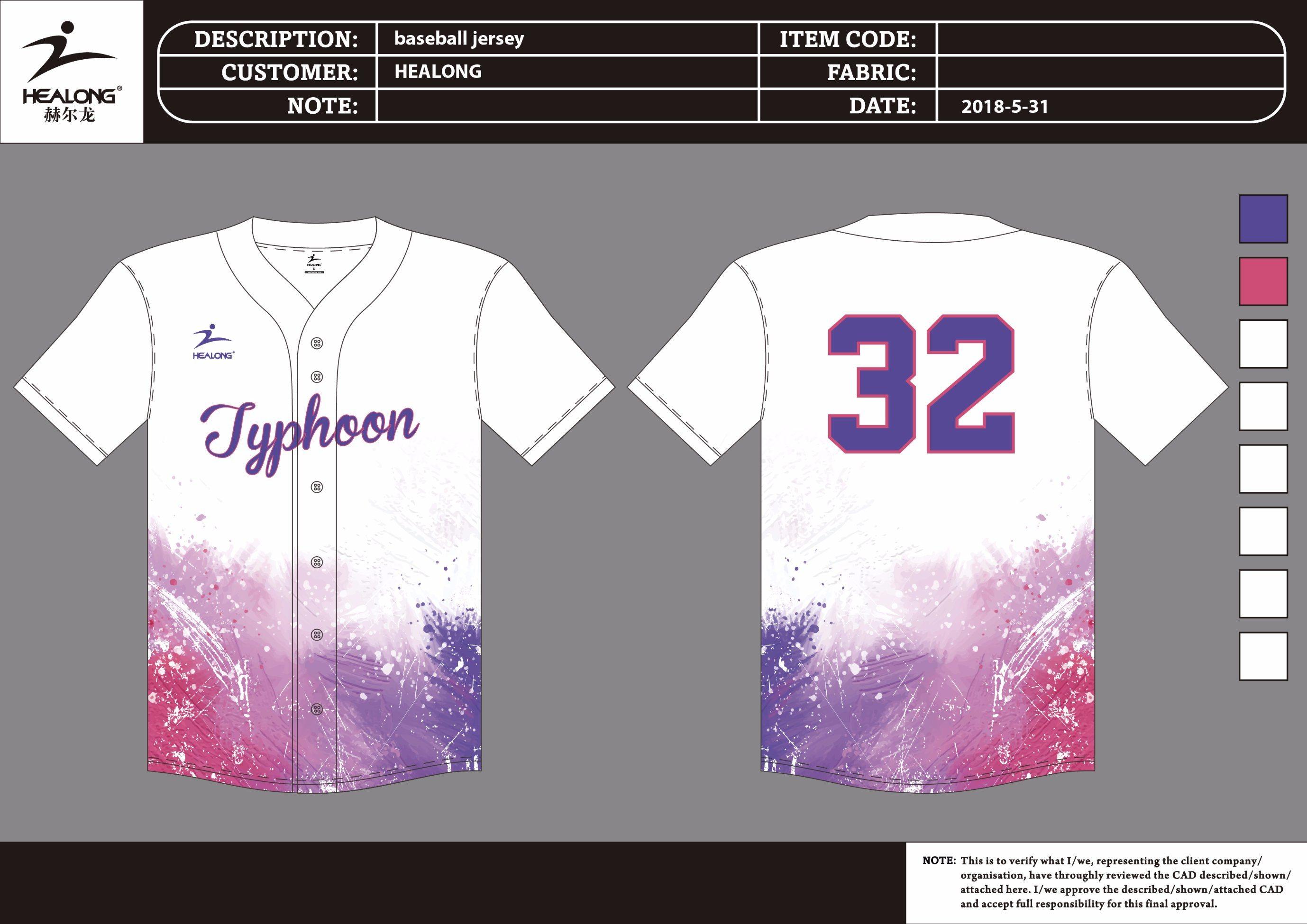 China Custom Sublimated Baseball Shirts Baseball Jersey China
