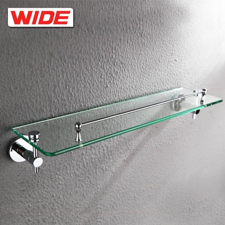 China Cheap Bathroom Glass Corner Towel Shelf Photos & Pictures ...