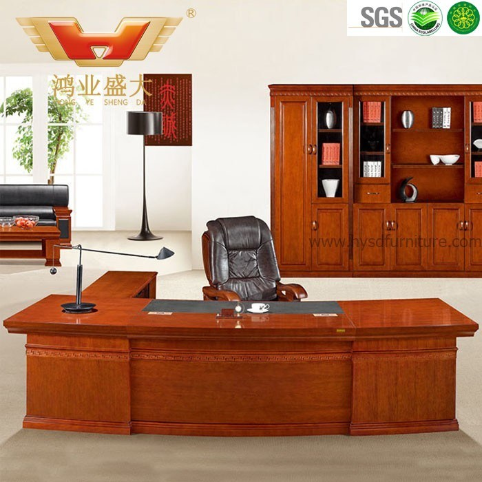 Hot Item Classical Teak Wood Executive Office Desk Office Table Furniture Hy D1132