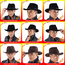 Hot Item Wholesale Classical 100 Wool Felt Western Cowboy Hats For Men Outback Hats Outdoor For Men